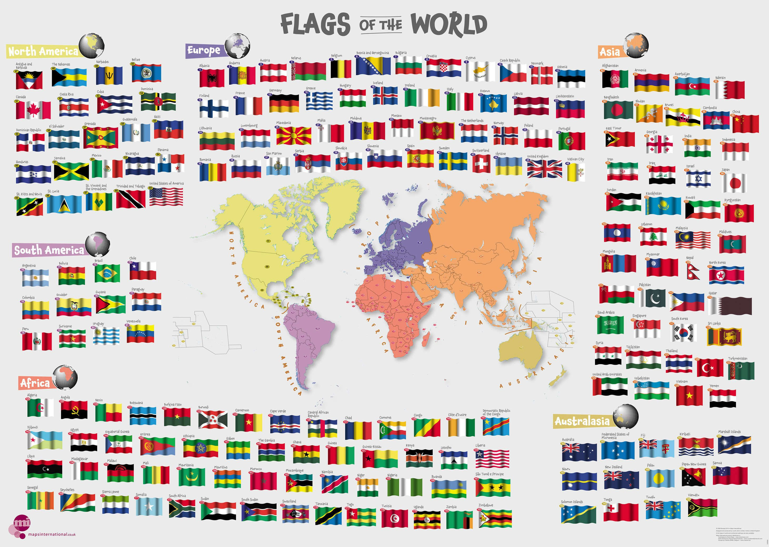 Primary Flags Of The World Poster - Scratch off us state maps with pencil 25 pack