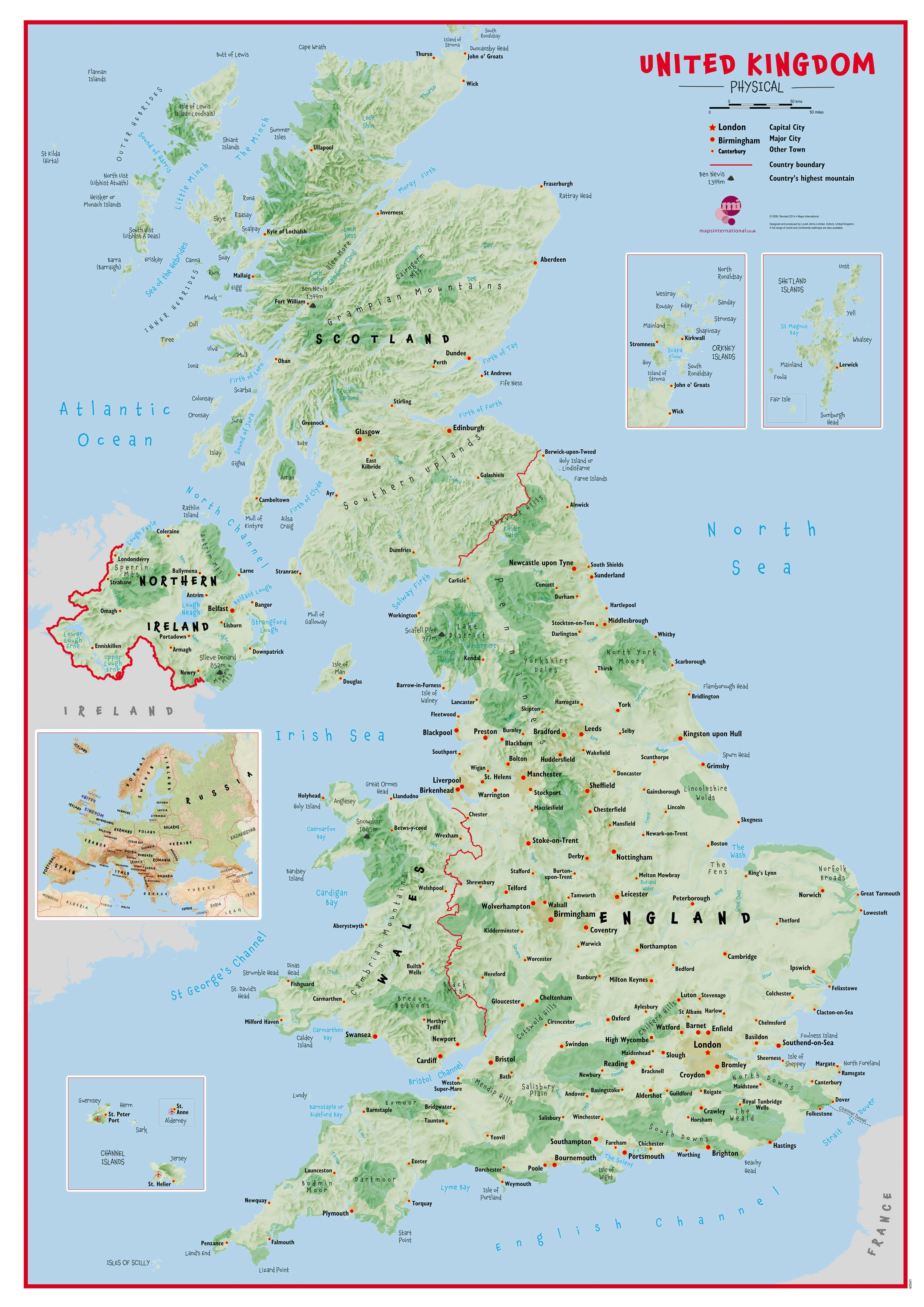 United Kingdom - Map of Cities in United Kingdom - MapQuest