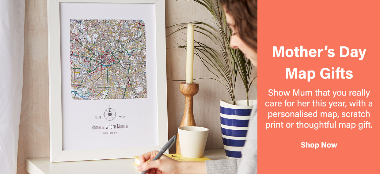Shop Map Gifts for Mother's Day