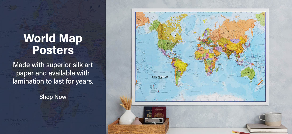 Shop our exciting range of World Map Posters