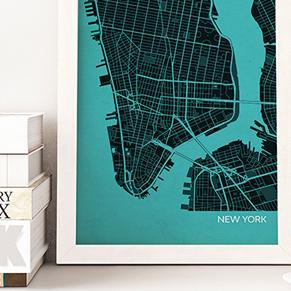 City Wall Maps