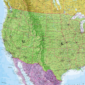 Continental Wall Maps