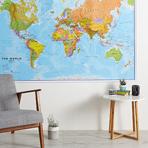 Huge, Giant and Large Wall Maps