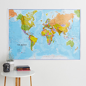 Political Wall Maps